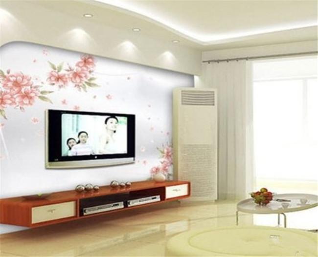 电视背景墙墙绘给你的客厅带来不一样的惊喜!